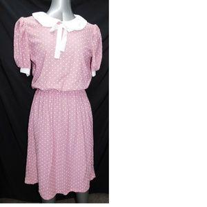 Vintage Polkadot Dress 14 With Tags Mod